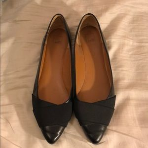 14th & Union Real Leather Black Flats Size 11